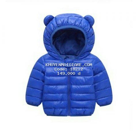 áo phao tai gấu siêu nhẹ chó bé trai bé gái (10-20KG)