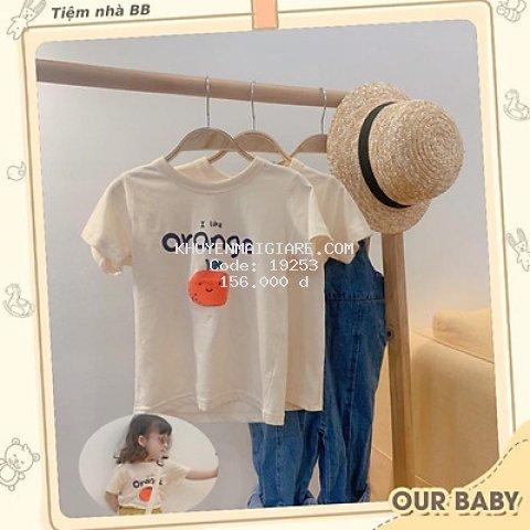 Áo phông Hàn Quốc cho bé - Hoạ tiết quả cam