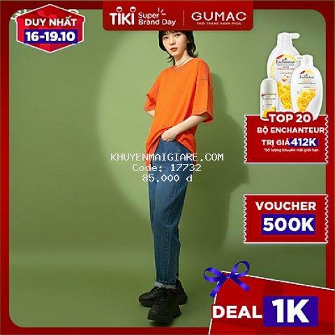 Áo thun nữ chạy chỉ bông GUMAC ATB165