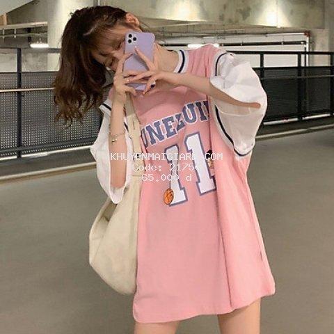 áo thun phom rộng in số 11 phong cách hàn quốc