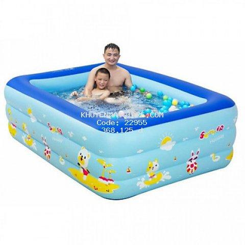 Bể Bơi 3 Tầng Hình Chữ Nhật  Loại To Bền 1,8m cho bé