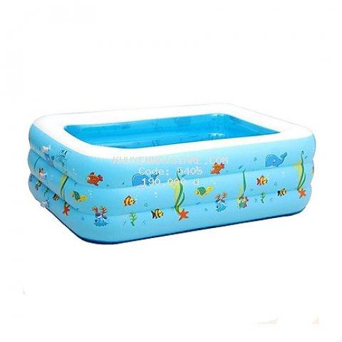 Bể bơi phao 3 tầng hình chữ nhật 1,3m cho bé