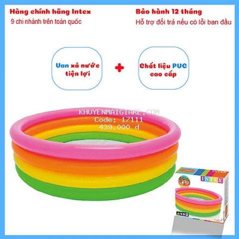 Bể bơi phao cầu vồng 4 tầng INTEX 56441 (1m68)