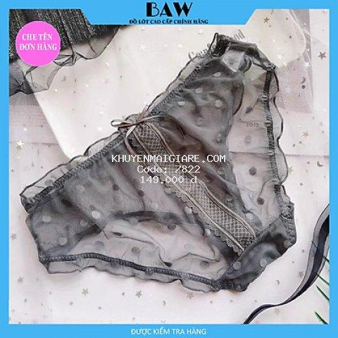 Bộ 5 Quần Lót ren công chúa chấm bi, Hàng xuất nhập thương hiệu Baw mẫu QLN01 (one size 40-60kg)