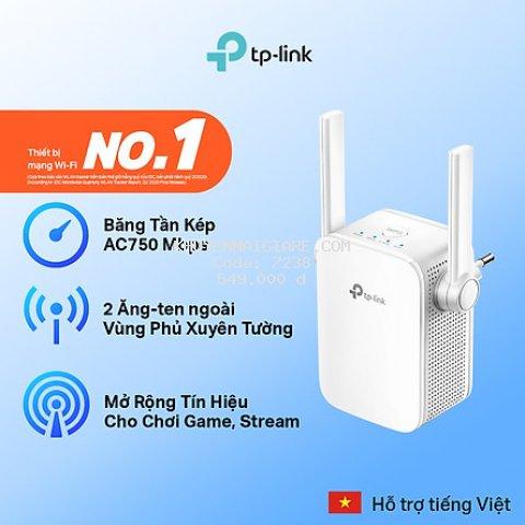 Bộ Mở Rộng Sóng Wifi TP-Link RE205 Băng Tần Kép AC750 - Hàng Chính Hãng