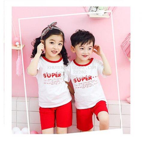 Bộ Quần áo cộc super cho các bé trai và bé gái từ 3-10 tuổi.