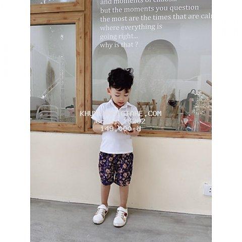 Bộ quần áo cọc tay siêu đáng yêu dành cho bé trai 8-35kg