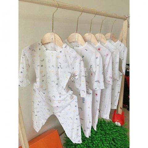 Bộ quần áo dài tay cotton thun lạnh cho bé trai bé gái mẫu A3 từ 0-16 tháng