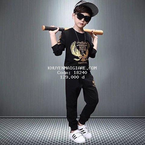 Bộ quần áo thu đông dành cho bé trai cực chất