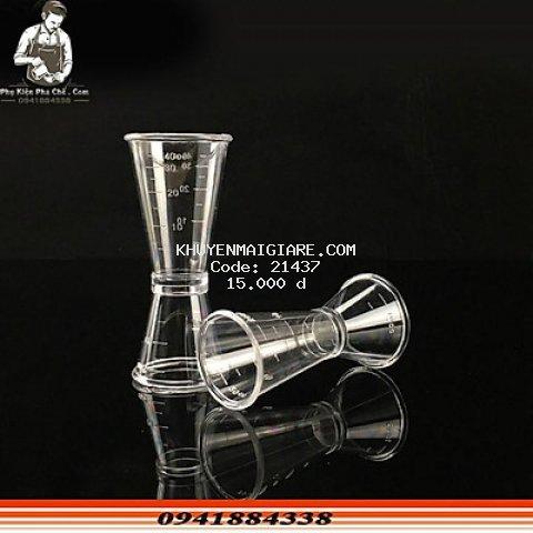 Ca đong 2 đầu 20/40ML - Jigger Đong Nhựa Hai Đầu