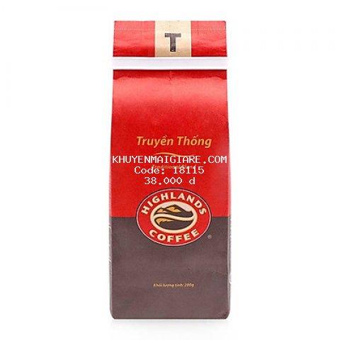 Cà Phê Rang Xay Truyền Thống Highlands Coffee (200g)