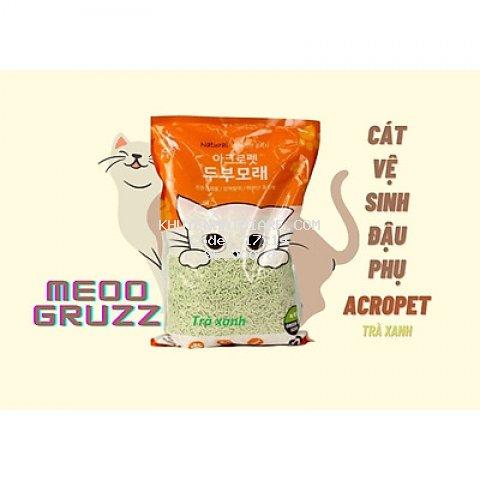 Cát Vệ Sinh Đậu Phụ Cho Mèo ACROPET 5L - Hương Trà Xanh