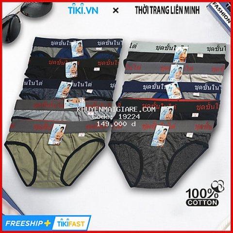 Combo 10 quần lót nam lưng thái