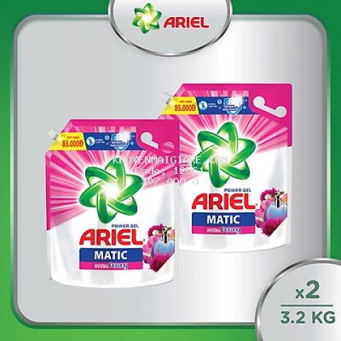 Combo 2 Nước Giặt Ariel Matic 3.2kg/3.5kg