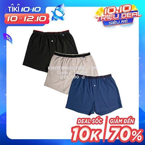 Combo 3 quần đùi thun nam mặc nhà iBasic SHM003