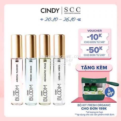 Combo 4 chai nước hoa nữ Cindy Bloom 10ml chính hãng