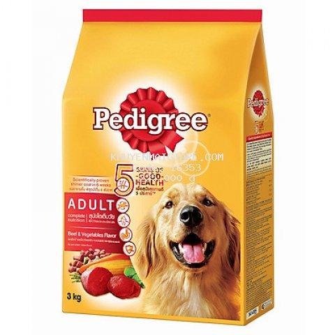 Đồ Ăn Cho Chó Vị Thịt Bò Và Rau Củ Pedigree (3Kg)
