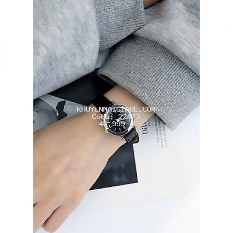 Đồng hồ dây da thời trang nam nữ đẹp đơn giản ZO47