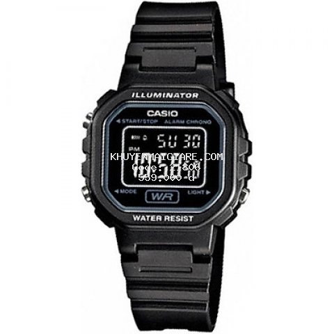 Đồng hồ nữ dây nhựa Casio LA-20WH-1BDF