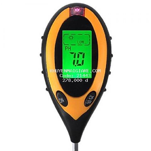 Dụng cụ đo PH 4 trong 1( PH, độ ẩm, ánh sáng, nhiệt độ)