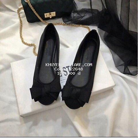 Giày búp bê nữ đính nơ phồng xinh xắn