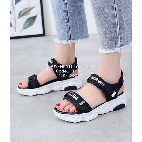 Giày Sandal Nữ Đế Gấu Cao Quai Ngang Phong Cách Hàn Quốc - 3136N