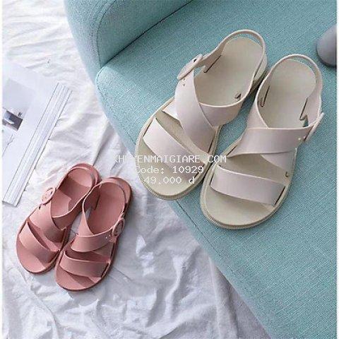 Giày Sandal Nữ Nhựa Dẻo IDEP Đi Mưa Hapu (Đen, Hồng, Kem) - GL008