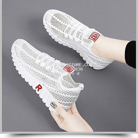 Giày sneaker thể thao nữ hàn quốc buộc dây siêu nhẹ V254