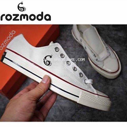 Giày thể thao vải bố nam nữ cổ cao cổ thấp Rozmoda GI15
