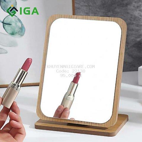 Gương Soi Trang Điểm IGA Gỗ Để Bàn B Mirror - GP120