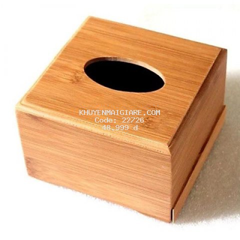 Hộp đựng giấy ăn bằng gỗ tre trúc tự nhiên