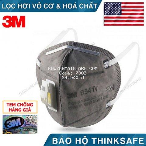 Khẩu trang 3D chống bụi bảo vệ hô hấp 3M 9541V - Khẩu trang 3M 9541V phòng dịch bảo vệ hô hấp