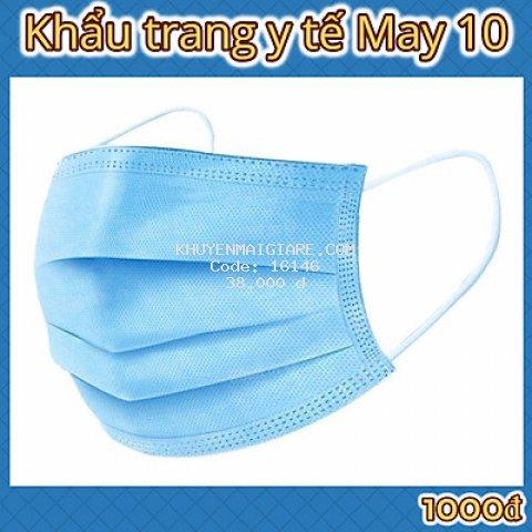 Khẩu trang y tế 4 lớp kháng khuẩn May 10 chính hãng