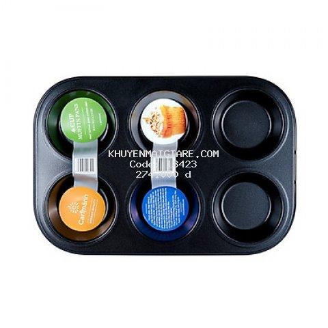 Khay Nướng Bánh CD 6Cup Carlmann CM008242