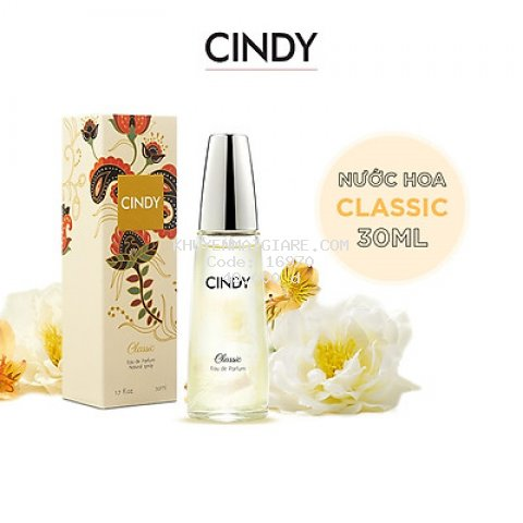 Nước hoa cho nữ Cindy Classic mùi hương cổ điển mê hoặc 30ml