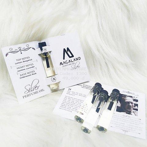 Nước hoa đậm đặc Silver Advanced by MACALAND (sample - mẫu thử)