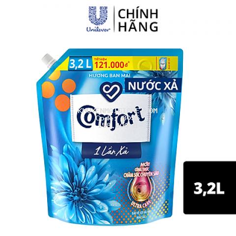 Nước Xả Vải Comfort Giữ Màu & Bền Vải Một Lần Xả Hương Ban Mai túi 3.2L
