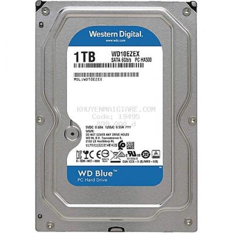 Ổ Cứng HDD WD Blue 1TB/64MB/7200rpm/3.5 - WD10EZEX - Hàng chính hãng
