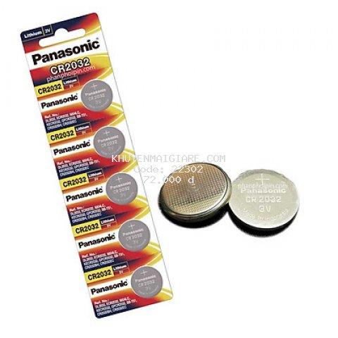 Pin nút Panasonic 3V CR-2032 x01 vỉ