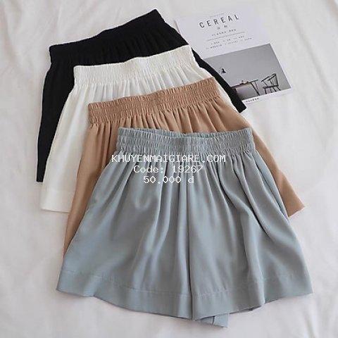 quần short nữ - quần đùi nữ cạp chun 4 màu lụa vải mềm mại