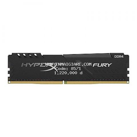 Ram PC Kingston HyperX Fury Black 8GB (1x8GB) Bus 2666 DDR4 CL16 DIMM XMP Non-ECC HX426C16FB3/8 - Hàng Chính Hãng