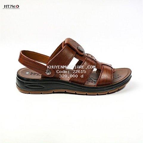 Sandal nam da bò cao cấp đế cao 3.5cm SD96-ND