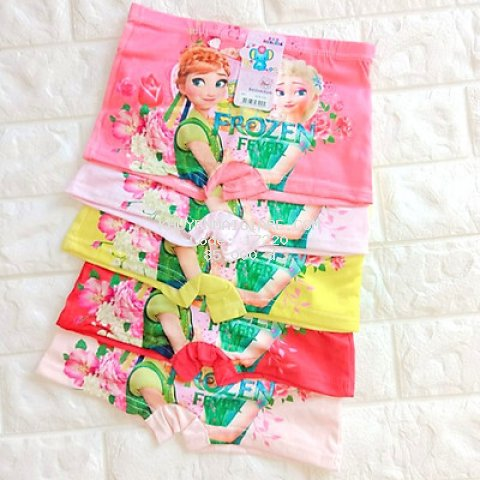 Sét 10 quần chíp đùi elsa 3D cực đẹp cho bé gái - màu ngẫu nhiên