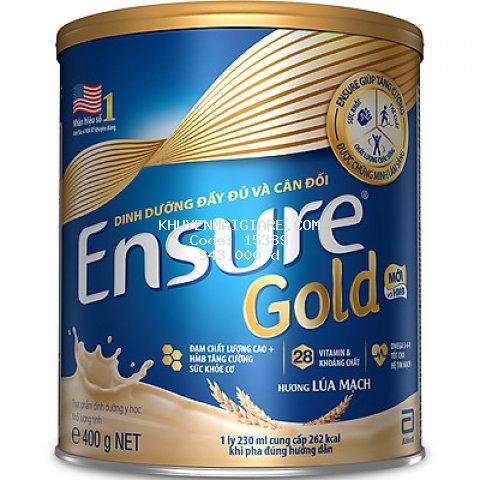 Sữa Bột Abbott Ensure Gold Lúa Mạch 400g
