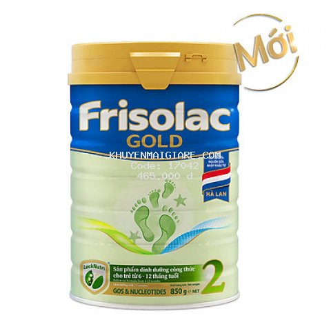 Sữa Bột Frisolac Gold 2 850g Dành Cho Trẻ Từ 6 - 12 Tháng Tuổi