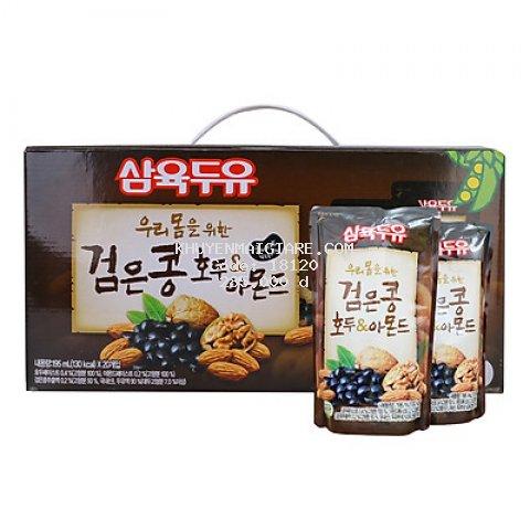 Sữa Đậu Đen, Óc Chó, Hạnh Nhân Sahmyook Foods (20 Gói / Hộp)