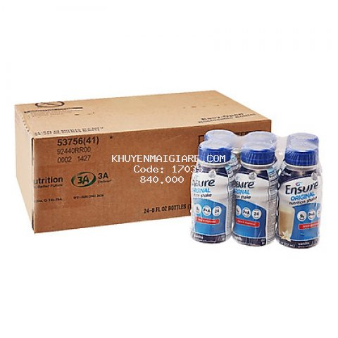 Thùng 24 Chai Sữa Nước Abbott Ensure 237ml