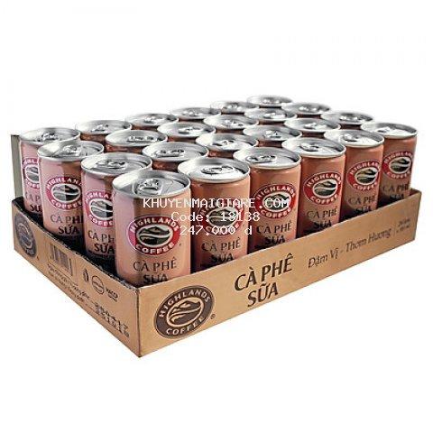 Thùng 24 Lon Cà Phê Sữa Đá Highlands Coffee (235ml/Lon)