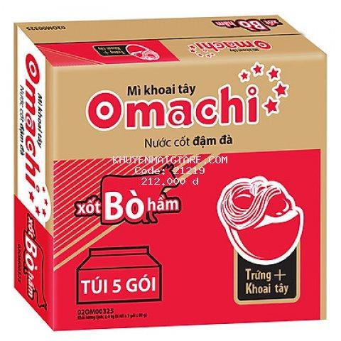 Thùng 30 Gói Mì Omachi Xốt Bò Hầm (80gr/Gói)