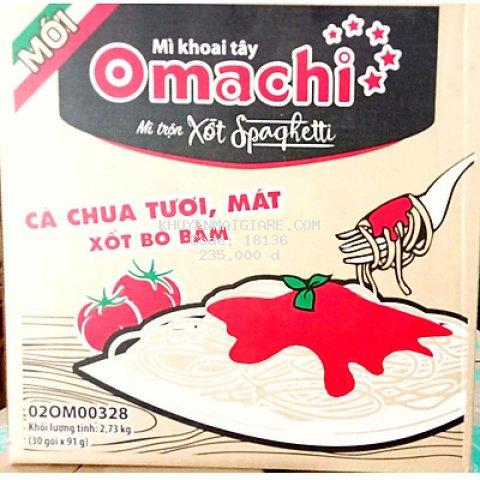 Thùng 30 Gói Mì Omachi Xốt Spaghetti Vị Bò